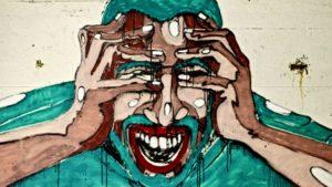 Stress bewältigen beschrieben durch ein Graffiti