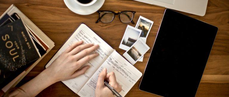 gute Gewohnheiten beschrieben durch ein Tagebuch