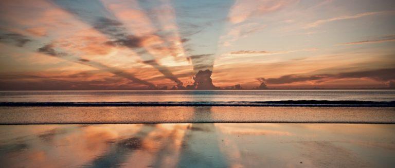gute Gewohnheiten beschrieben durch einen Sonnenuntergang