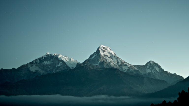 gelassener werden beschrieben durch ein Bergpanorama