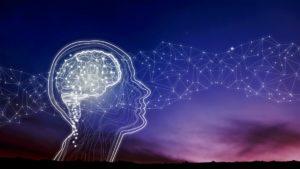Innere Antreiber beschrieben anhand einer Silhouette des Gehirns und Gedankenstrahlen