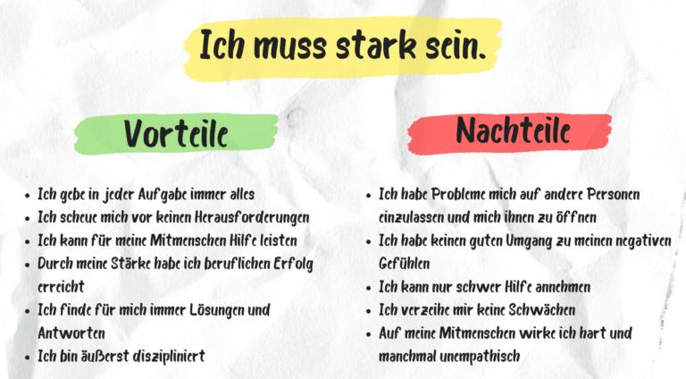 """Innere Antreiber: Erklärung von Vor- und Nachteilen des Antreiber """"Ich muss stark sein."""""""